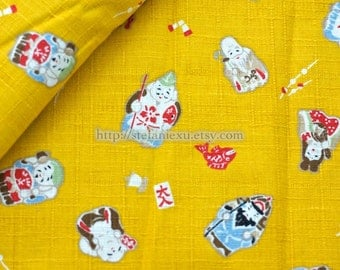 Fairy Tale Collection, Traditional Mascot-Japanese Cotton Fabric (Fat Quarter)