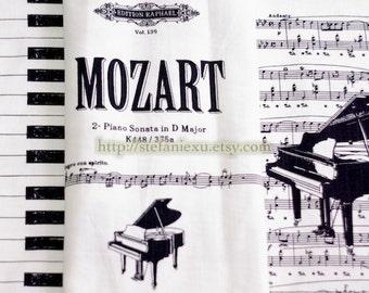Unique Linen Collection-Antique Mozart's Music Notes (1 Cut, 31x55 inches)