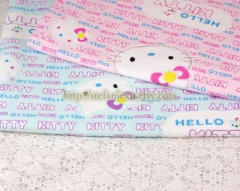 SALE Clearance - Lovely Hello Kitty and Letters - Flannel Fabric (1/2 Yard)