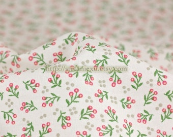 Chic Spring Green Floral Bud - Japanese Cotton Fabric (Fat Quarter)