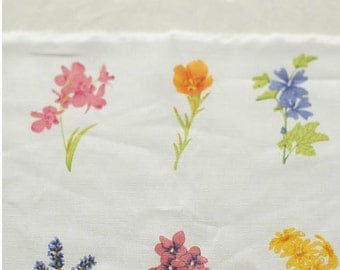 Unique Linen Collection-Natural Floral Flower Herb Garden (1 Panel, 31x55 inches)