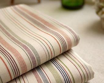 Neat Colorful Irregular Stripes-Japanese Dyed Cotton Fabric(1/2 Yard)