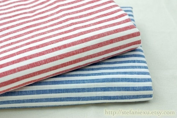 SALE-Japanese Cotton Fabric-Simple Blue Stripe (16.5x27.5 inches)