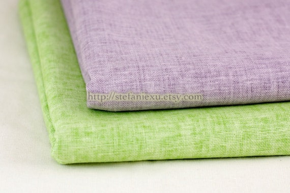 Solid Fabric, Candy Colors-Water-Washed Linen Fabric(Fat Quarter)
