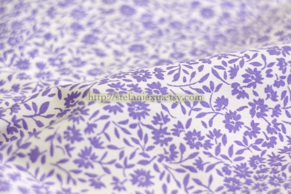 Love of Nature, Lovely Chic Purple Flowers -Cotton Fabric (Fat Quarter)