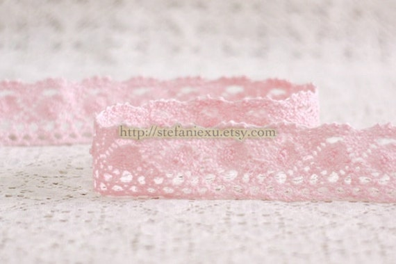 Cotton Crochet Lace - Spindle In Light Pink (W3.2cm, 1 Yard)