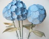 3 Globe Flowers Paper Flower Decor Centerpiece