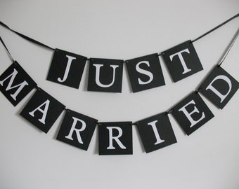 Just Married Wedding Banner.