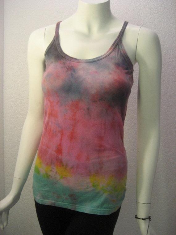 Yoga tank ORGANIC COTTON Rainbow tie dye tank top