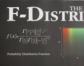 F Distribution Poster