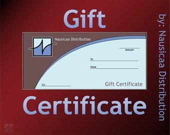 Nausicaa Distribution Gift Certificate