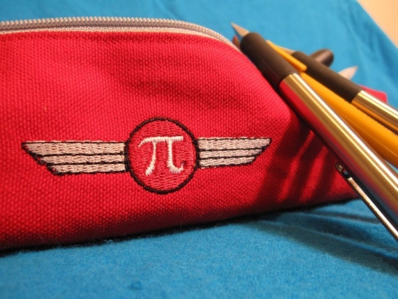 Pi Zippered Pencil Pouch