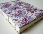 Katazome lavender flowers exposed spine journal - small