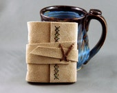 Handmade Leather Journal or Sketchbook Mini Size