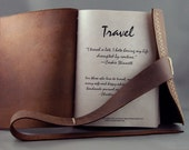 Custom Handmade Leather Travel Journal / Organizer