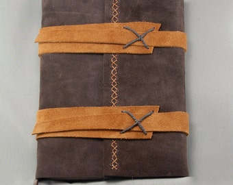 Handmade Leather Journal with Lined Parchment Paper