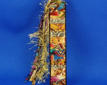 Cleopatra's Choice, Fiber Art Collage Bookmark