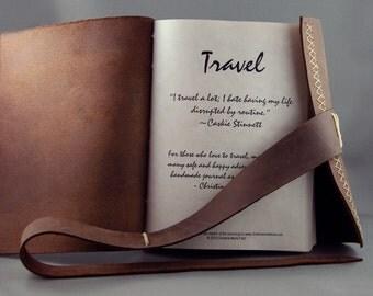 Custom Handmade Leather Travel Journal / Organizer