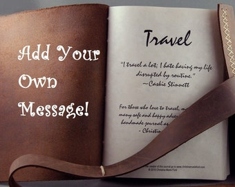 Add a Personal Message to Your Handmade Journal