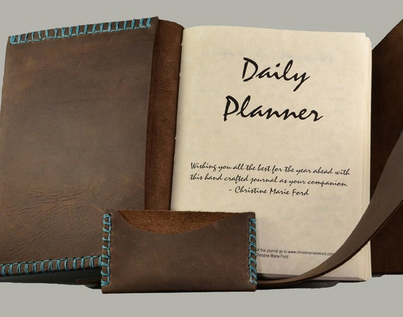 Custom Leather Day Planner for the Adventurous Soul SEPTEMBER 2012-2013
