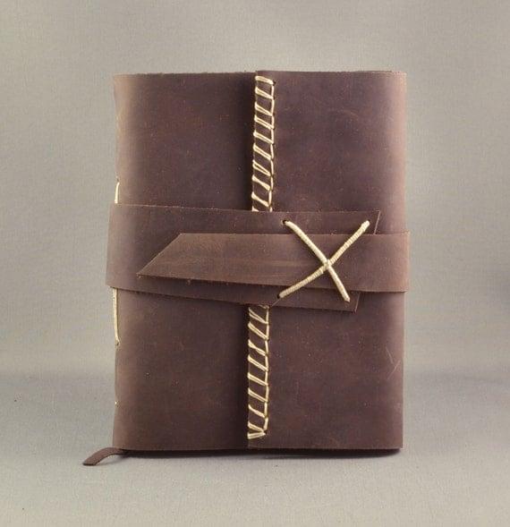 Handmade Leather Journal or Sketchbook Medium Size