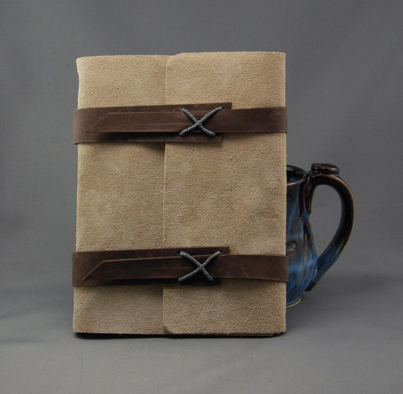 Handmade Leather Journal with Blank Parchment Paper