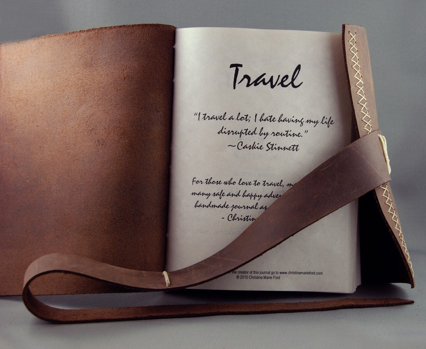Handmade Leather Travel Journal Organizer By
