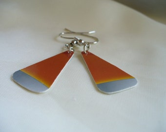 Credit Card Candy Corn Earrings
