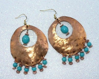 Beatin' The Copper Large Earrings