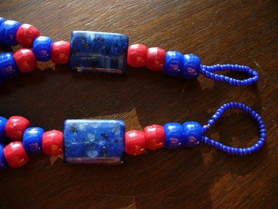 Red and Blue Barefoot Sandals