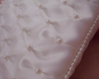 Ring bearer's pillow white with pearls couture