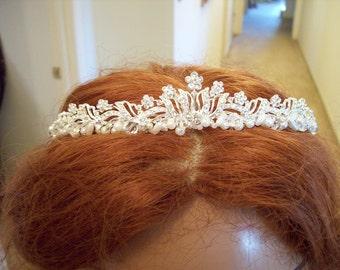 Glam bridal  rhinestone headband tiara
