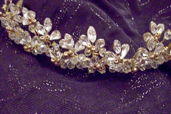 Gold and /marquis rhinestone tiara custom colors
