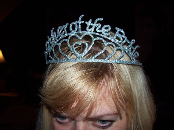 Wedding Gag Gift: Tiara Bridal MOTHER Of The BRIDE Crown Metal With Ab Glitter