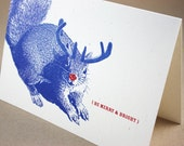 Super Squirrel Merry and Bright Holiday Cards, Set of 12
