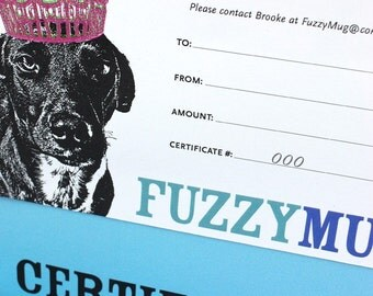 FuzzyBucks - Gift Certificate for an 11x14 Custom Pet Portrait with Shipping