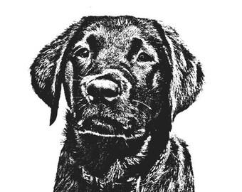 Black Lab Puppy Print - 11x14
