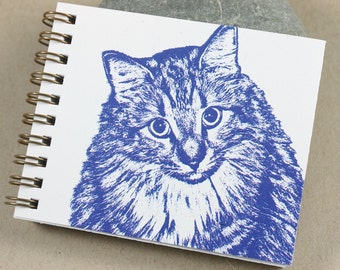 Mini Journal - Blue Kitty