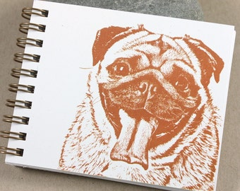 Mini Journal - Rust Pug
