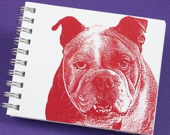 Mini Journal - English Bulldog in Red