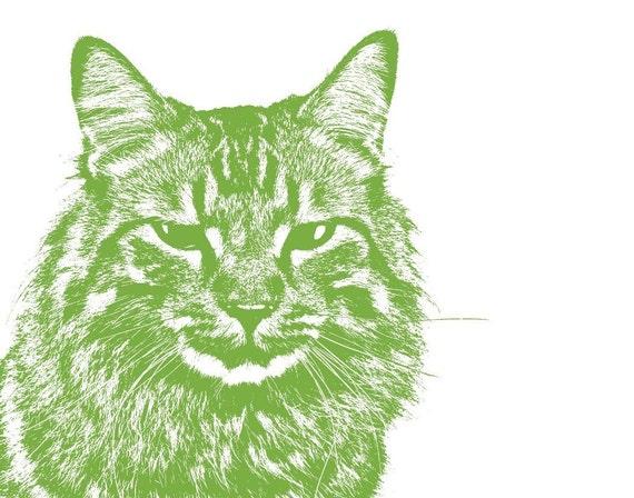 CUSTOM PET PORTRAIT - 11 X 14 inches, cat, dog, realistic, etching, illustration, modern