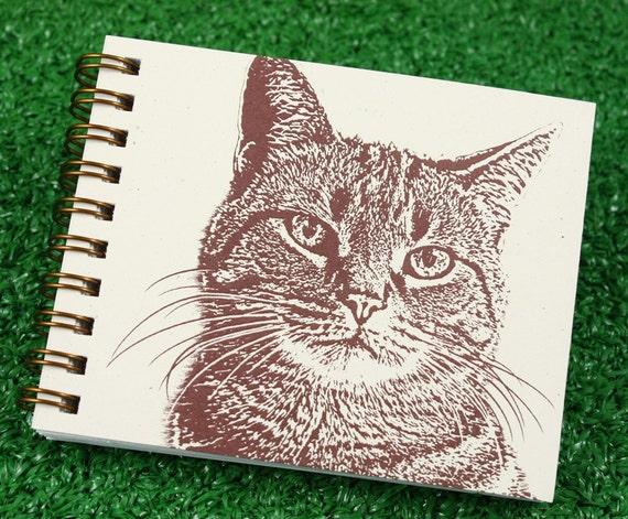 Mini Journal - Tabby Cat in Brown