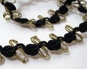 Fabric Trim Vintage Black and Gold 4 plus yards
