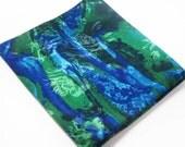 Vintage Hawaiian Fabric Short Yardage 44 in x 23 inches Tropical Cotton Blue Green Purple