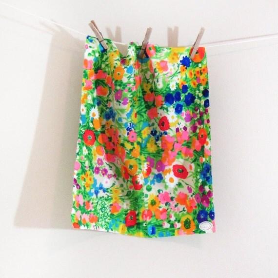 Floral Print Fabric Short Yardage Bright Colors