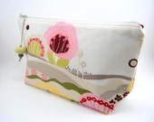 LARGE Zippered Pouch in FAIRY LAND