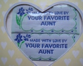 Sewing Labels from your Favorite Aunt