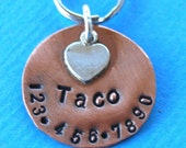 Tiny Pooch Smaller ID Tag   Made with LOVE