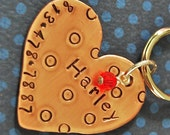 Harley Heart Copper Large Heart with Polka Dots