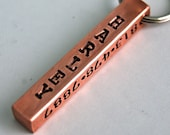 Custom Pet id tag / Sturdy Copper Bar / 4 sides to customize any way you wish